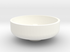 """1 1/2"""" Scale Nathan Whistle Bowl in White Processed Versatile Plastic"""