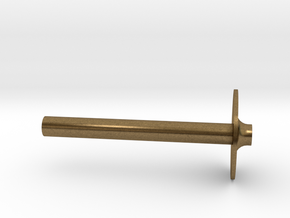 """1 1/2"""" Scale Nathan 3 Chime Bowl Cap and Stem in Natural Bronze"""