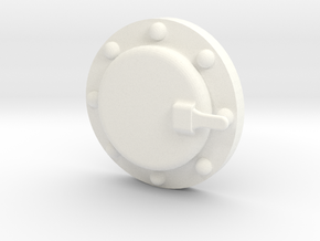 "3/4"" Scale Baldwin Smoke Box Cleanout Ver B in White Processed Versatile Plastic"