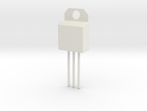 Voltage Regulator Pendant in White Natural Versatile Plastic
