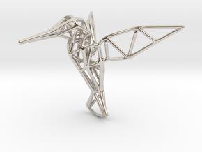Hummingbird in Platinum