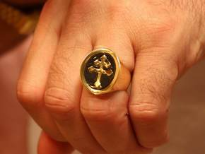 TEAM RING SIZE 9 in Polished Brass