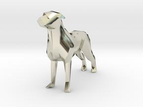 Ring Holder Dog in 14k White Gold