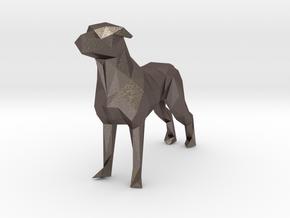 Ring Holder Dog in Polished Bronzed Silver Steel