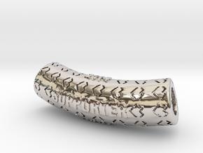 Hollow Bent Cylinder in Platinum