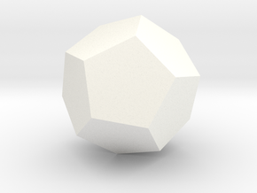 Dodecahedron in White Processed Versatile Plastic