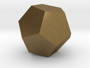 Dodecahedron in Natural Bronze