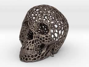 Skull in Polished Bronzed Silver Steel