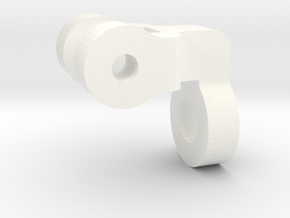 """1 1/2"""" Scale Nathan Whistle Valve Handle Support in White Processed Versatile Plastic"""
