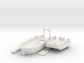 Medieval Landing Ship in White Natural Versatile Plastic