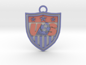 US national Team logo keychain in Full Color Sandstone