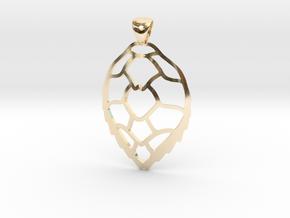 Hawksbill sea turtle pendant in 14k Gold Plated Brass