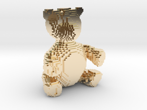 Voxel Bear in 14K Yellow Gold