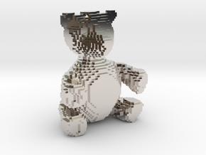 Voxel Bear in Platinum
