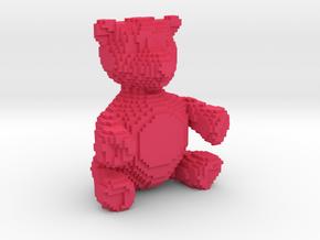 Voxel Bear in Pink Processed Versatile Plastic