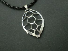 Hawksbill sea turtle pendant in Rhodium Plated Brass
