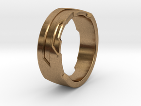Ring Size G in Natural Brass