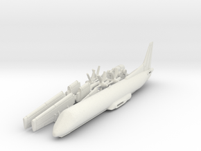 144 - SAAB 2000 - Sprue - Hollow in White Natural Versatile Plastic