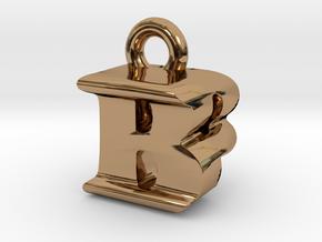 3D Monogram Pendant - BPF1 in Polished Brass