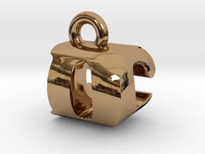 3D Monogram Pendant - DCF1 in Polished Brass