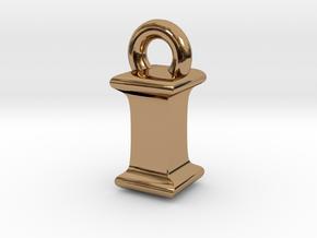 3D Monogram Pendant - IIF1 in Polished Brass