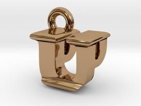 3D Monogram - UPF1 in Polished Brass