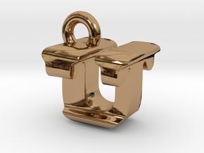 3D Monogram - UTF1 in Polished Brass