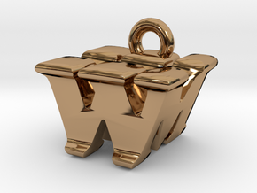 3D Monogram - WMF1 in Polished Brass