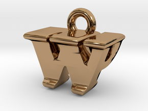 3D Monogram - WPF1 in Polished Brass