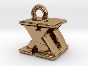 3D Monogram - XDF1 in Polished Brass