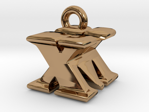3D Monogram - XMF1 in Polished Brass