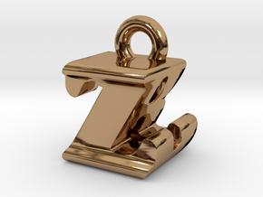 3D Monogram - ZBF1 in Polished Brass