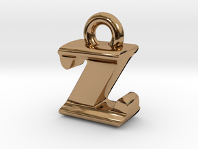 3D Monogram - ZIF1 in Polished Brass