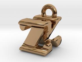 3D Monogram - ZNF1 in Polished Brass
