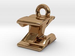3D Monogram - ZXF1 in Polished Brass