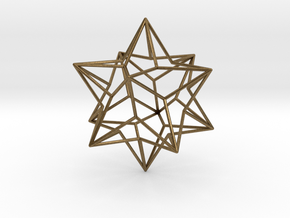 Stellated Dodecahedron in Natural Bronze