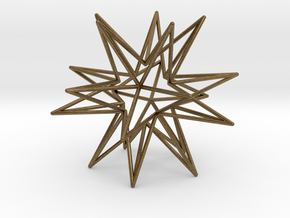 Icosahedron Star in Natural Bronze