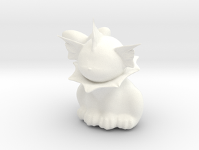 Vaporeon Figurine in White Strong & Flexible Polished