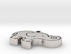 Elephant Necklace in Platinum