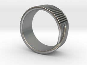 Rift Ring - EU Size 63 in Natural Silver