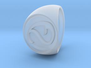 Custom Signet Ring 3 in Smooth Fine Detail Plastic