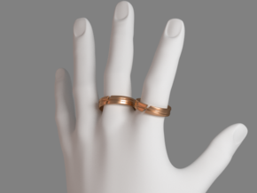 Servant Ring - EU Size 60 in Polished Bronze Steel