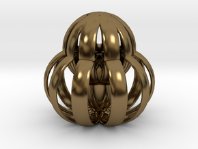 Caged Protea in Polished Bronze