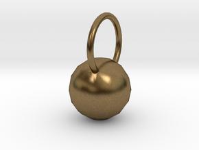 Low Res Disco Sphere Pendant in Natural Bronze