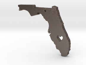 I love Florida Pendant in Polished Bronzed Silver Steel