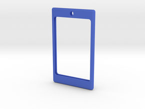 Badge frame with loop 20141103-01 in Blue Strong & Flexible Polished