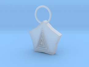 Pyramid Pendant in Frosted Ultra Detail