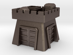 Clash of Clans Clan Castle in Polished Bronzed Silver Steel