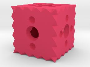 Dice38 in Pink Processed Versatile Plastic