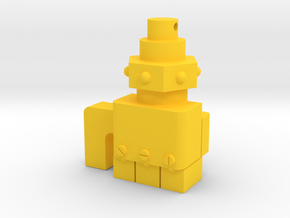 Blitz Fist Key Chain in Yellow Processed Versatile Plastic